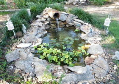 Pond With Pot Waterfall 1